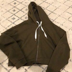 crop zip up hoodie